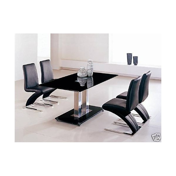 Impressive Black Dining Table and Chairs 600 x 600 · 45 kB · jpeg