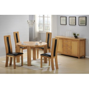 Wholesale Furniture Store ZEUS SOLID OAK ROUND DINING